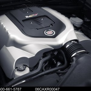 2006 Cadillac XLR-V Studio Engine Shot
