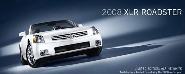 2008 Cadillac XLR in Alpine White