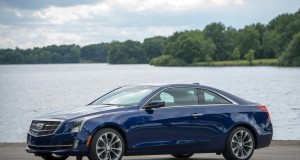 The 2015 Cadillac ATS Coupe offers drivers the choice of rear-wheel drive or all-wheel drive, manual or automatic transmission, and a 2.0L turbocharged four-cylinder or a 3.6L six-cylinder engine. (Photo by Steve Fecht for Cadillac)