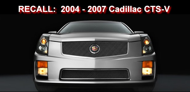 general motors recalls 2004 2007 cadillac cts v. Black Bedroom Furniture Sets. Home Design Ideas